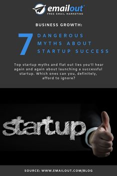 Top startup myths and flat out lies you'll hear again and again about launching a successful startup. Which ones can you, definitely, afford to ignore? Free Email Marketing, Digital Marketing, Success Meaning, Get Rich Quick, Quick Reads, Startups, All You Need Is, Business Planning, Enough Is Enough