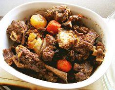 Recipe: Beef short ribs / 갈비찜 / Galbi jjim (or galbi jim, kalbi jim, kalbi jjim)