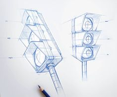Street Light Sketch / Drawing