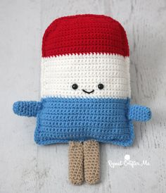 Patriotic Popsicle Crochet Cuddle Buddy