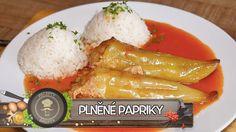 Plněné Papriky - Nejlepší recept u nás Food And Drink, Veggies, Cheese, Homemade, Chicken, Meat, Cooking, Recipes, Youtube