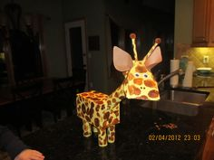Madison's Giraffe Valentine Box