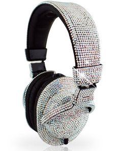 Iwave Swarovski-Encrusted Headphone too much bling, no? Bling Bling, Best Headphones, Skullcandy Headphones, Glamour, Fashion Moda, Luxury Life, Boutique, Girls Best Friend, Swarovski Crystals