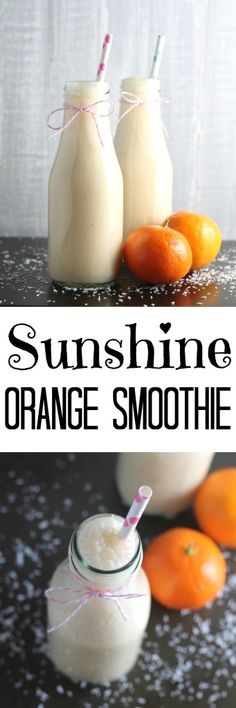 Packed with Vitamin C, this healthy Sunshine Orange Smoothie will help keep those winter bugs at bay!