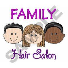 FAMILY HAIR SALON embroidery design
