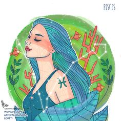 peaceful Pisces Zodiac Art, Zodiac Signs, All About Pisces, Pisces Fish, Astrology Pisces, Pisces Woman, Disney Characters, Fictional Characters, Digital Art