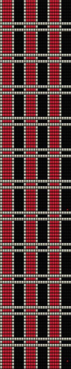 Zsuzska world of beads: Chess - Matt (Crocheted bracelet) Sample / Pattern