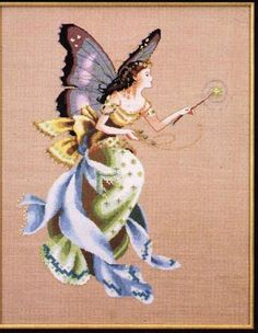 Solo Patrones Punto Cruz The Cottage Garden Fairy Cross Stitch Fairy, Cross Stitch Angels, Just Cross Stitch, Cross Stitch Kits, Counted Cross Stitch Patterns, Cross Stitch Charts, Cross Stitch Designs, Cross Stitch Embroidery, Dragons