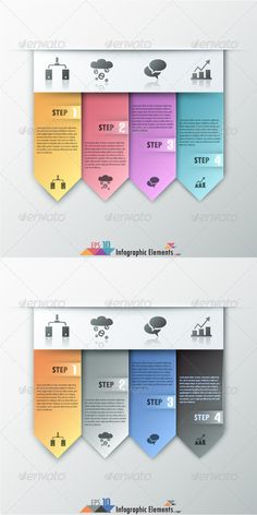 Modern Infographic Options Banner (Two Versions) Template #design Download: http://graphicriver.net/item/modern-infographic-options-banner-two-versions/7582870?ref=ksioks