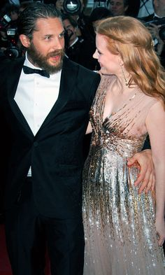 """""""We became buddies and played Scrabble on-set, so that made it (kissing Hardy) easier for me, but I'm shy. When I read a script and there's kissing, I always feel like I got punched in the stomach. Acting is a bit embarrassing: nudity, kissing, dancing.""""     - Jessica Chastain on the extreme hardship of having to kiss Tom Hardy."""