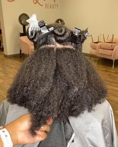 Black Kids Braids Hairstyles, Natural Braided Hairstyles, Clip Hairstyles, Natural Hair Flat Twist, Big Natural Hair, Natural Hair Styles, Curly Hair Cuts, Curly Hair Styles, Pelo Afro