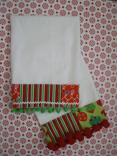 Obsessively Stitching: Christmas Dish Towels -- TUTORIAL