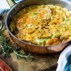 leek sweet potato omelette