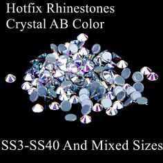 New Arrival Hotfix Strass Rhinestones Crystal AB Iron On Flatback Iron On Glass Diamonds Appliques For DIY Crafts Embellishments