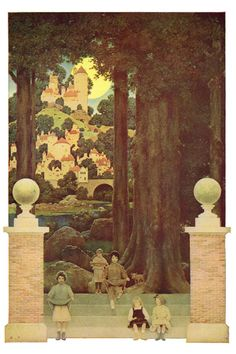 Maxfield Parrish: Sugar Plum Tree