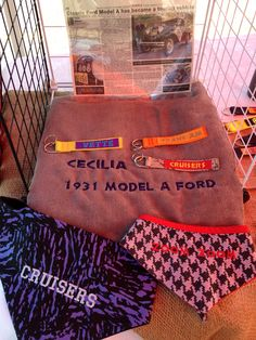 """Not just Dog Stuff ! We can personalize Non- Scratch key fobs for custom cars too! Bandannas for """"gear heads"""" and microfibre towels to clean up! Dog Id, Key Fobs, Lost & Found, Clean Up, Dog Stuff, Custom Cars, Towels, Canning, How To Wear"""