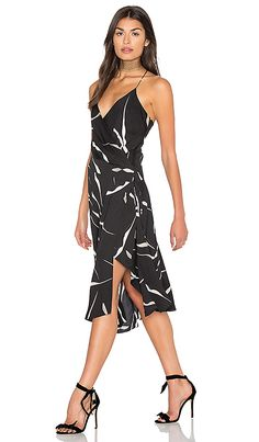 Diane von Furstenberg Brenndah Dress in Gesture Black