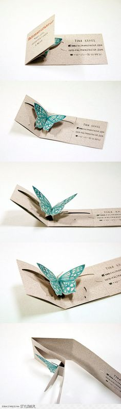 Faltmanufaktur unique folding business card | Scrapbook…