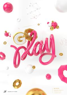 3D Type | Vol.1 by Andrew Footit, via Behance