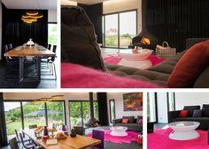 Location villa vue mer, les pieds dans l'eau en Bretagne - maison haut de gamme SPA, piscine, billard, home cinéma, 2 suites, 3 chambres. Luxury architect design villa to rent in Britany- Bugueles- France.