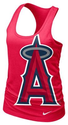 Los Angeles Angels of Anaheim MLB Nike Women's Cotton Racerback Tank