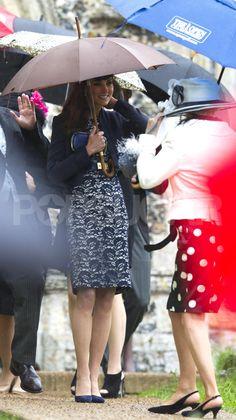 Kate Middleton and Prince William at Wedding on Anniversary | POPSUGAR Celebrity