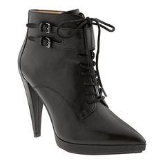 Banana Republic Womens Pamela Shootie Size 9 1/2 - Black ($198) ❤ liked on Polyvore featuring shoes, high heel shoes, high heel platform shoes, banana republic shoes, black shoes and black platform shoes