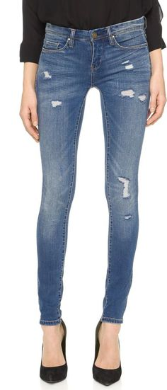 Super comfy distressed Blank Denim Skinny Jeans. On sale for Under $100.