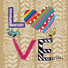 Blueberry Paper — Love You Gift Card — Australian cards, gorgeous greeting cards, boutique stationery