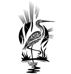 Used this image in one of my Pyrography projects. Black heron vector on VectorStock® Arte Tribal, Tribal Art, Stencil Patterns, Stencil Art, Native Art, Native American Art, Tribal Bird Tattoos, Tattoo Bird, Heron Tattoo