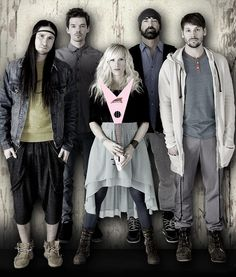 Walk Off The Earth....they're awesome!!!!! I'm pinning this cuz I want Sarah's hair!