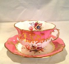 Vintage Tea Cups And Saucers | Antique Hammersley & Co. Bone China Cup and Saucer made in England Tea ...