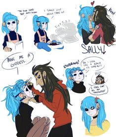 I'm too shy to tag the main tag tbh vwv; but have Larry showering Sal in chest kisses! I imagine Sal is just sensitive all over okay. Fanart, Sally Man, Creepy Games, Sally Face Game, Larry Johnson, Comic Anime, Overwatch, Manga, Character Design