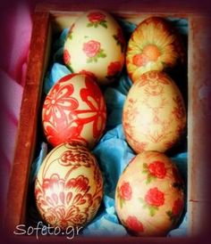 Easter eggs with decoupage technique, with … – Easter Honey Bunny, Easter Cookies, Easter Crafts, Easter Ideas, Decoupage, Happy Easter, Easter Eggs, Diy And Crafts, Holiday