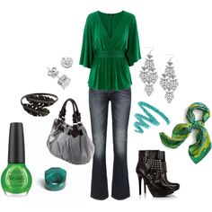 perfect for St. Patrick's Day....although I don't believe I'd wear the spiked heals.