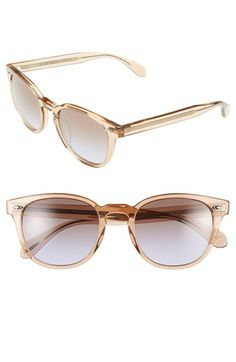Oliver Peoples 'Sheldrake Plus' 52mm Retro Sunglasses available at #Nordstrom