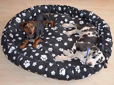 Make your own dog bed and customize the size, color and fabric. Michelle used my pattern to make a very big bed for her pets. It's a very cute pattern, nice and easy to make.