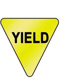 printable yield sign kids signs stop go pinterest free rh pinterest com yield traffic sign clip art