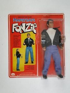 "vintage mego tv | Vintage 1976 Happy Days Fonzie 8"" Action Figure Mego Corp TV Show Toy ..."
