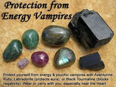 Protection from energy vampires. (via)