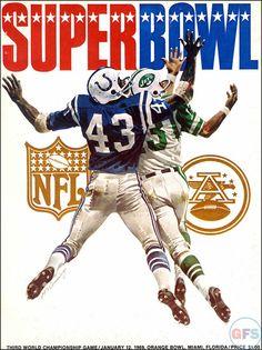 Super Bowl III New York Jets Vs. Baltimore Colts Program cover 1969 Photo  Print x ed8925f1e