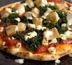 chicken spinach pita pizza