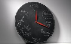 Tell Dad how much you love him with a different message every hour of the day - Chalkboard Clock Project #craft #diy #FathersDay