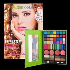 Eyeshadow Eyebrow and Blush Makeup Book Kit 50 Shades by Profusion http://www.bonanza.com/listings/Eyeshadow-Eyebrow-and-Blush-Makeup-Book-Kit-50-Shades-by-Profusion/210256456