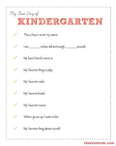 Use This Free Printable First Day of School Questionnaire to Interview Your Kids School Daze, School Fun, 1st Day Of School, Pre School, School Pics, School Ideas, School Stuff, Kids Questions, This Or That Questions