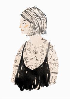 Jen Collins People Illustration, Pattern Illustration, Illustration Sketches, Character Illustration, Graphic Design Illustration, Illustrations Posters, Tattoo Illustration, Book Art, Art Drawings