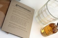 Funny Groomsman Proposal - dictionary definition card