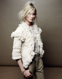 White fringe blazer