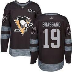 cf0aaa384b6 Adidas Penguins  19 Derick Brassard Black 1917-2017 100th Anniversary  Stitched NHL Jersey Nhl