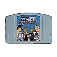 132f046d3c WCW/nWo Revenge N64 Nintendo 64 pro wrestling video game WWE WWF lapel  enamel pin